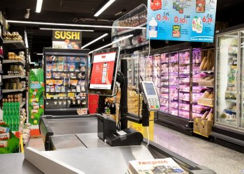 Jespac Supermarket POS Mounting Solution