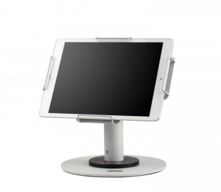 New universal tablet stands for hospitals rooms.
