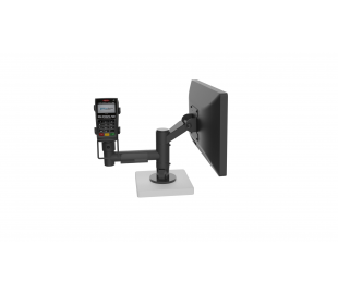 POS ergonomic mounting solution with arm and angled VESA holder