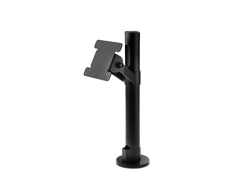 Pole with angle 75/100 VESA mount