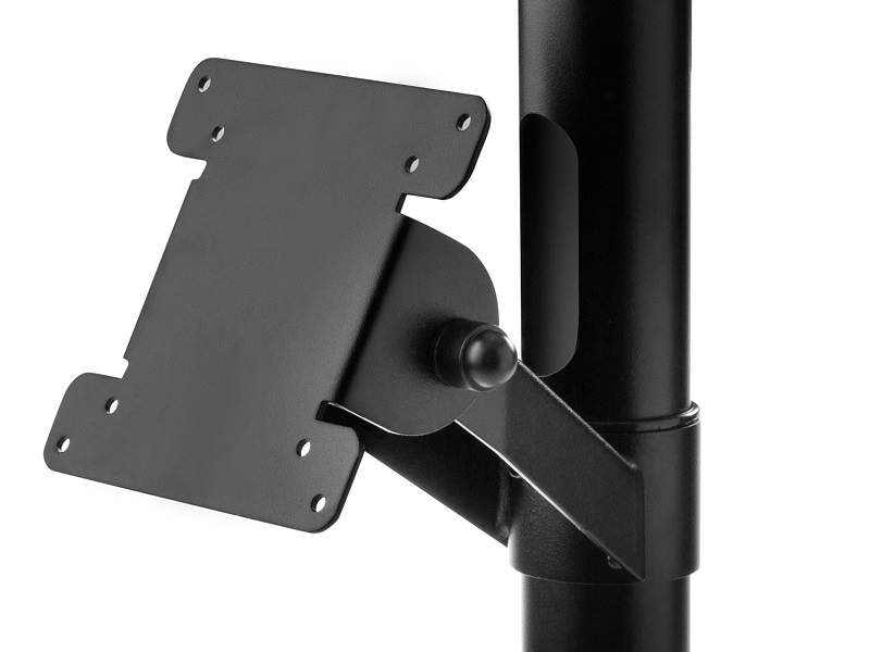 Pole with angle 75/100 VESA holder
