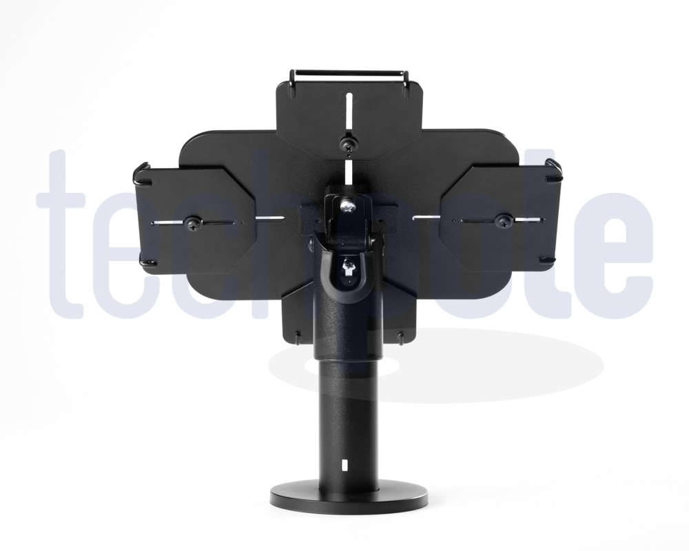 Desktop tablet stand. Security grips adaptable to all tablet size.